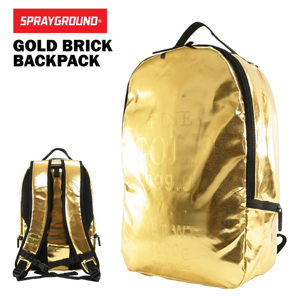 d3009cab72b2 Spray ground gold brick backpack (SPRAY GROUND GOLD BRICK BACKPACK rucksack  B029) [arrived late March]