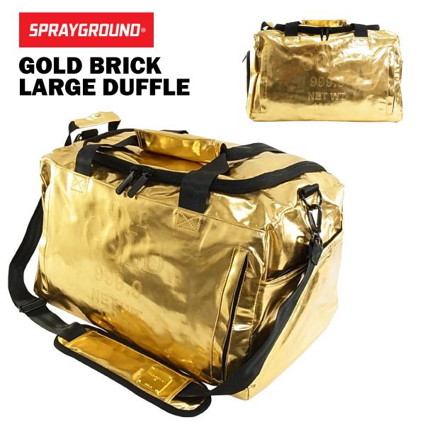 Spray Ground Gold Brick Rajdaffle Large Duffle Bag Sneaker D030