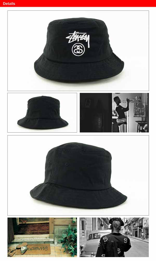 1a747464dd2 Stussy stock lock FA14 bucket Hat Black (STUSSY STOCK LOCK FA14 BUCKET HAT)