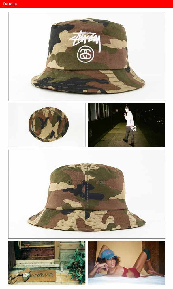amb  Stussy stock rock holiday 14 bucket Hat olive Camo (STUSSY ... 12a600d54ecf