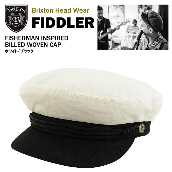 20598a694e Brixton Fiddler cut  amp  saw fisherman Cap white   black Brixton FIDDLER  cut and Sew fisherman cap