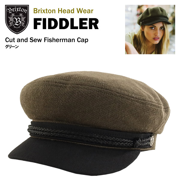 amb  Brixton Fiddler cut  amp amp  saw fisherman Cap green Brixton ... b48ce567af1