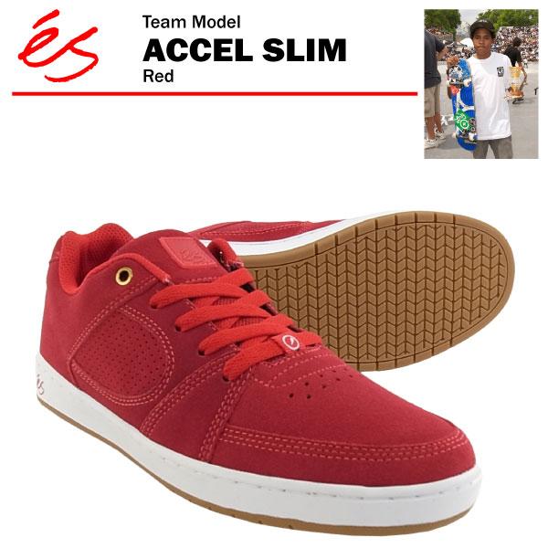 エス アクセル スリム レッド スケート スケーター スニーカー (es ACCEL SLIM) 【あす楽対応】【あす楽_土曜営業】