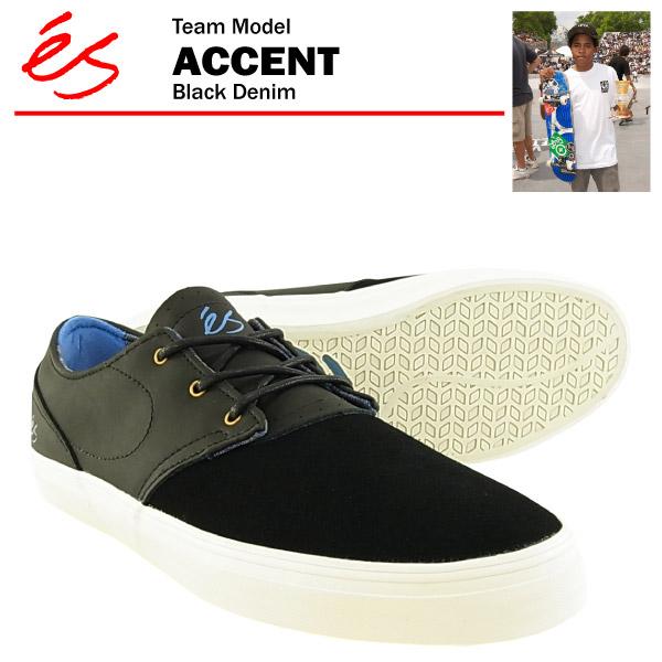 エス アクセント ブラックデニム スケート スケーター スニーカーes THE ACCENTあす楽対応楽ギフ 包装あす楽 土曜営業VSMUzp