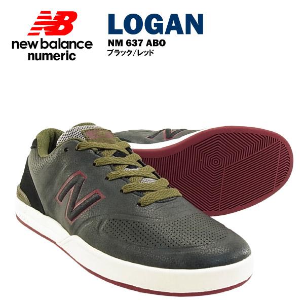 ニューバランス ローガン シュー 637 ブラック/レッド ヌメリック スケート スケーター (NEW BALANCE LOGAN SHOE NUMERIC 637 NM637ABO スニーカー シューズ)