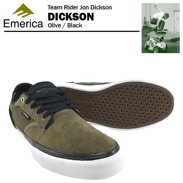 エメリカ ディックソン オリーブ/ブラック スケート スケーター スニーカー (Emerica DICKSON)