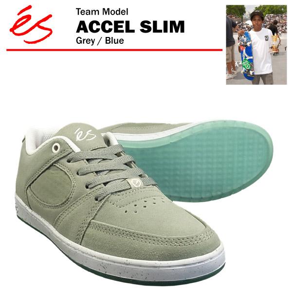 エス アクセル スリム グレー/ブルー/23.5cm スケート スケーター スニーカー (es ACCEL SLIM)