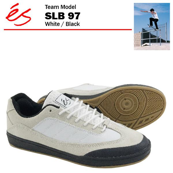 エス SLB 97 ホワイト/ブラック/27cm スケート スケーター スニーカー (es SLB 97)