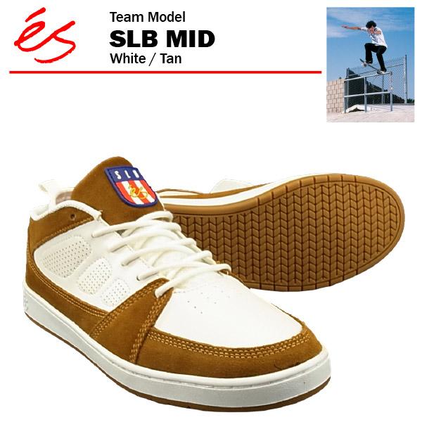エス SLB ミッド ホワイト/タン スケート スケーター スニーカー (es SLB MID) 【あす楽対応】【あす楽_土曜営業】