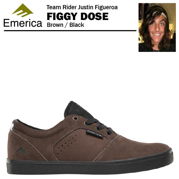 エメリカ フィギードース ブラウン/ブラック スケート スケーター スニーカー (Emerica FIGGY DOSE JUSTIN FIGUEROA ジャスティン・フィゲロア)