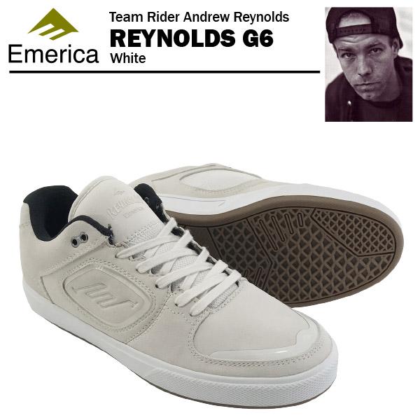 エメリカ レイノルズ G6 ホワイト スケート スケーター スニーカー (Emerica REYNOLDS G6) 【あす楽対応】【あす楽_土曜営業】