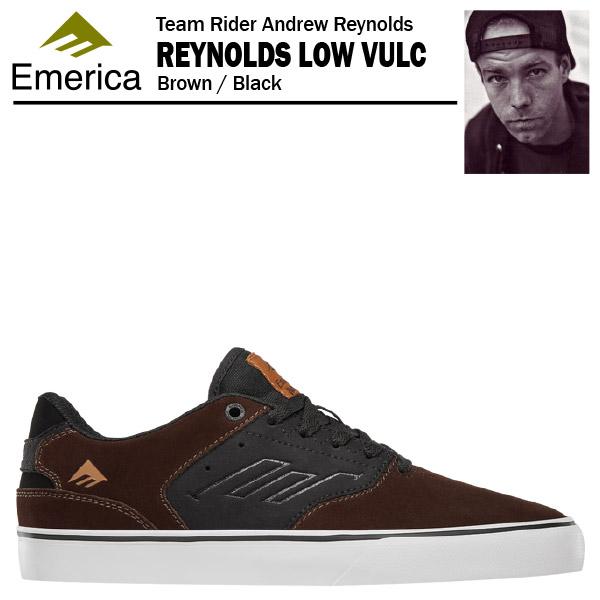エメリカ ザ・レイノルズ ロー VULC ブラウン/ブラック スケート スケーター スニーカー (Emerica THE REYNOLDS LOW VULC)