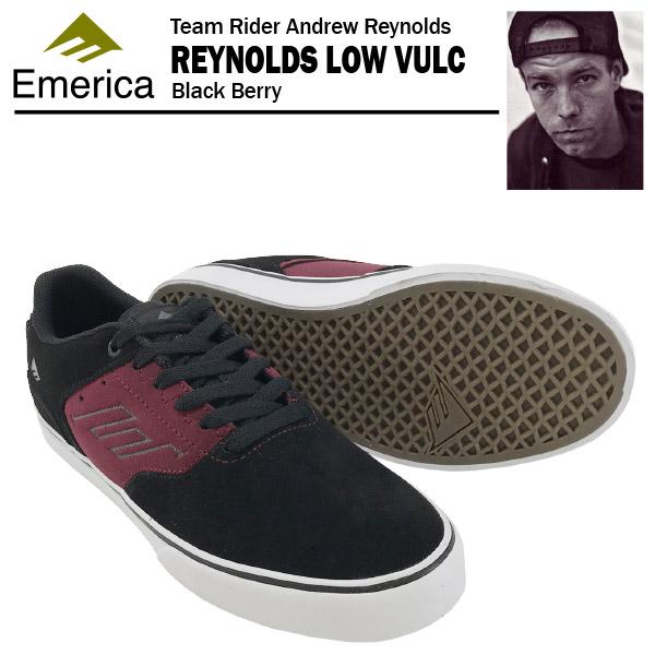 エメリカ ザ・レイノルズ ロー VULC ブラックベリー スケート スケーター スニーカー (Emerica THE REYNOLDS LOW VULC) 【あす楽対応】【あす楽_土曜営業】