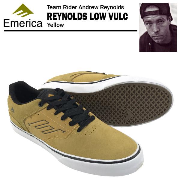 エメリカ ザ・レイノルズ ロー VULC イエロー スケート スケーター スニーカー (Emerica THE REYNOLDS LOW VULC)