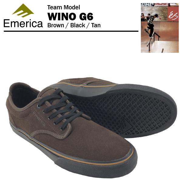 エメリカ ワイノ G6 ブラウン/ブラック/タン スケート スケーターシューズ (Emerica WINO G6)