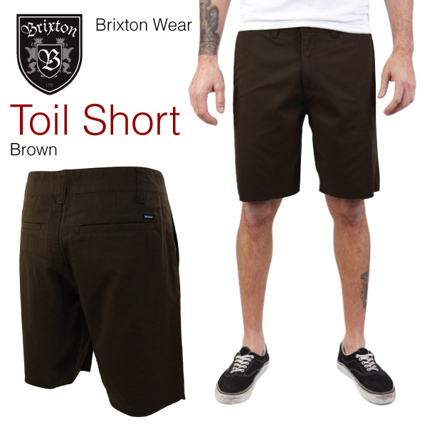 burikusutontoiruchinoshotopantsuburaun(Brixton TOIL CHINO SHORT PANTS)