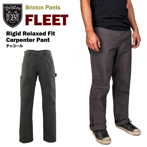 ブリクストン フリート リジッド リラックスド フィット カーペンターパンツ チャコール (Brixton FLEET Rigid Relaxed Fit Carpenter Pant ペインターパンツ ワークパンツ) 【あす楽対応】【あす楽_土曜営業】