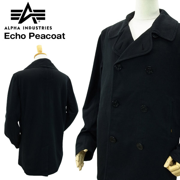great variety styles boy best authentic Alpha industries echoes peacoat black (ALPHA INDUSTRIES ECHO PEACOAT) fs3gm