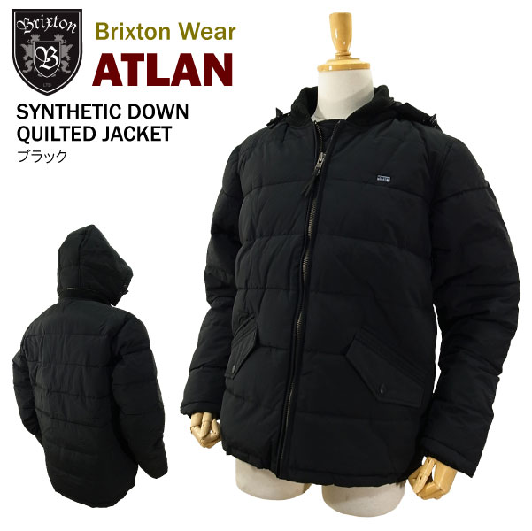 1c78c66712 Brixton AirTran synthetic down jacket black (BRIXTON ATLAN SYNTHETIC DOWN  QUILTED JACKET Quilted Jacket) ...