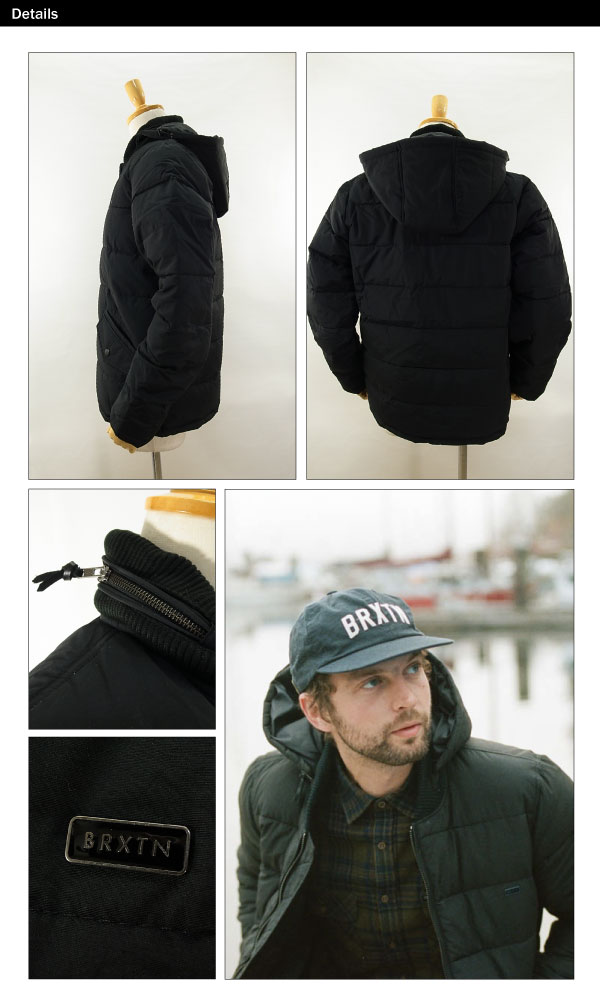 817afb6ce4 amb: Brixton AirTran synthetic down jacket black (BRIXTON ATLAN ...