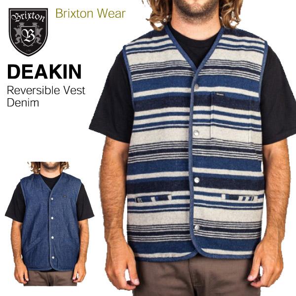 amb  Brixton Deakin Western denim reversible best denim (BRIXTON ... 64be416e5db