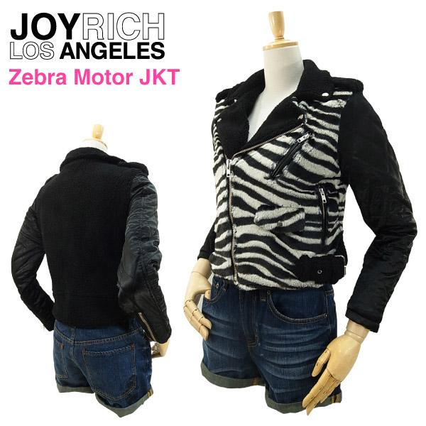 ジョイ リッチ ゼブラ モーター ジャケット (JOY RICH ZEBRA MOTOR JKT ライダースジャケット レディース 女性用 ジョイリッチ)