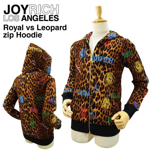 ジョイ リッチ ロイヤルVSレオパード ジップ フーディー (JOY RICH ROYAL VS LEOPARD ZIP HOODIE ダブルジップ スウェットパーカー メンズ 男性用 ジョイリッチ)