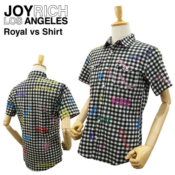 ジョイ リッチ ロイヤル バーサス シャツ ブラック (JOY RICH ROYAL VS SHIRTS メンズ 男性用 ジョイリッチ 半そでシャツ) 【あす楽対応】【あす楽_土曜営業】