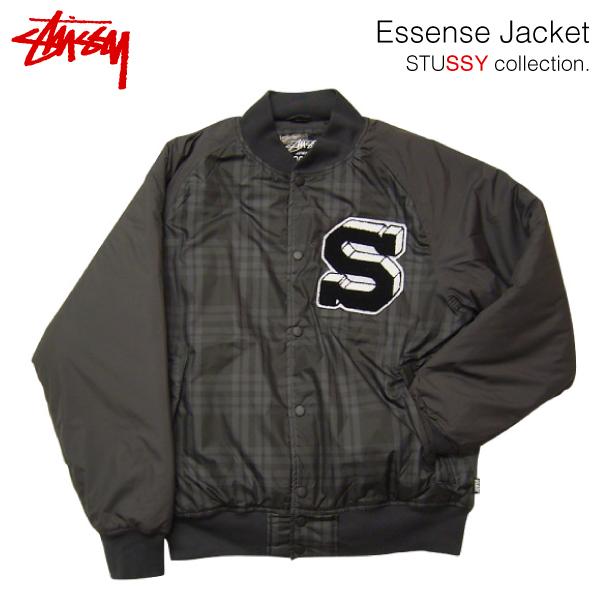 ステューシー エッセンス ジャケット ブラック/Mサイズ (STUSSY ESSENSE JACKET ハイテク リバーシブルジャケット) 【あす楽対応】【あす楽_土曜営業】
