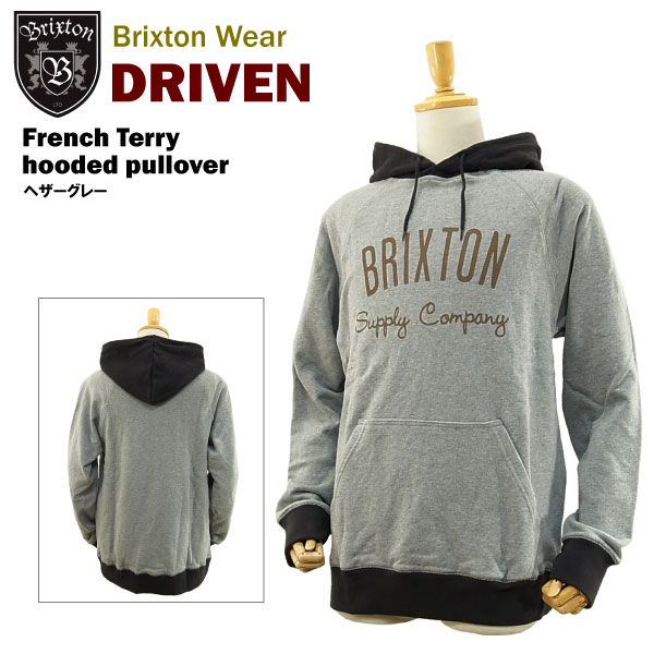 Brixton Driven Pullover Hoodie Grey