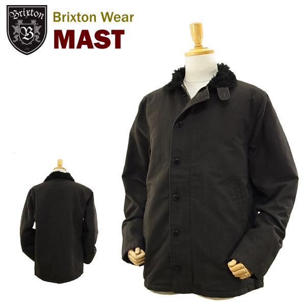 ブリクストン マスト ヴィンテージ インスパイアド ミリタリ−ジャケット ブラック (Brixton MAST VINTAGE INSPIRED MILLITARY JACKET)