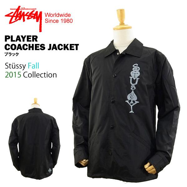 7db271447 Stussy player coaches jacket black (in coach jacket windbreaker nylon jacket  STUSSY PLAYER COACHES JACKET ...
