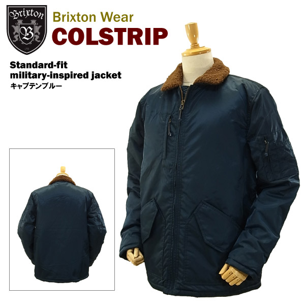 ブリクストン コルストリップ スタンダードフィット ミリタリ-インスパイアド ジャケット キャプテンブルー (Brixton COLSTRIP Standard-fit military-inspired jacket)