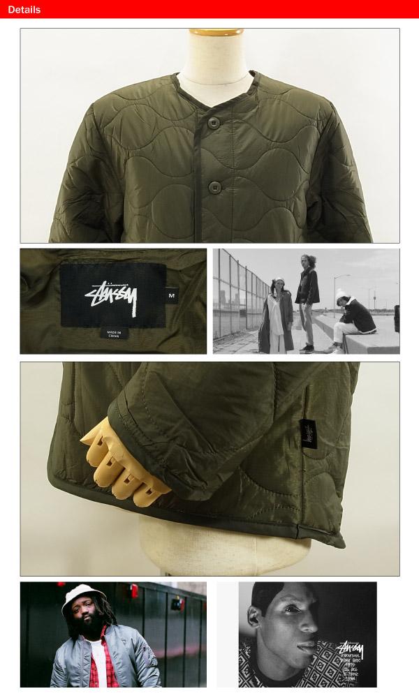 ステューシー キルティング ミリタリー ジャケット オリーブSTUSSY QUILTED MILITARY JACKET 115303qVGUpMSz