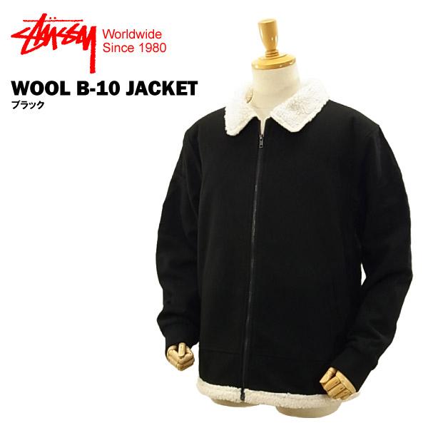 ステューシー ウール B-10 ジャケット ブラック (STUSSY WOOL B-10 JACKET 115307)