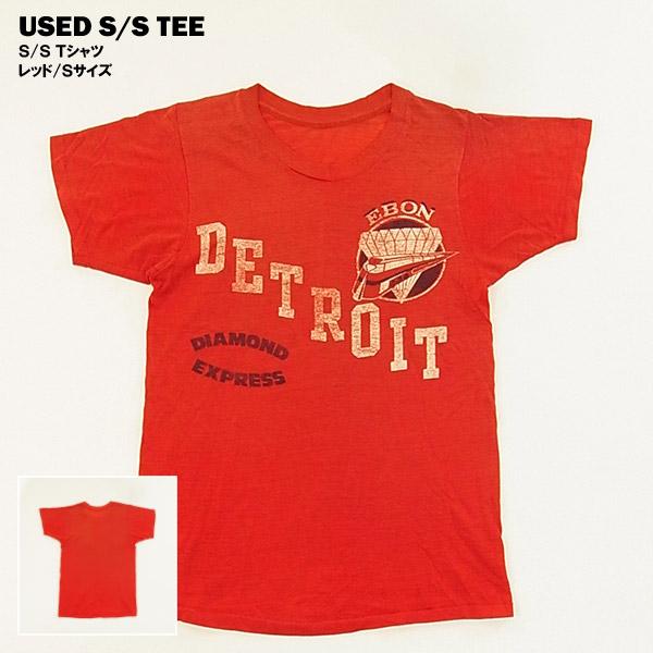 USED S Tシャツ 海外直輸入USED品 ◆高品質 レッド ランキングTOP10 Sサイズ