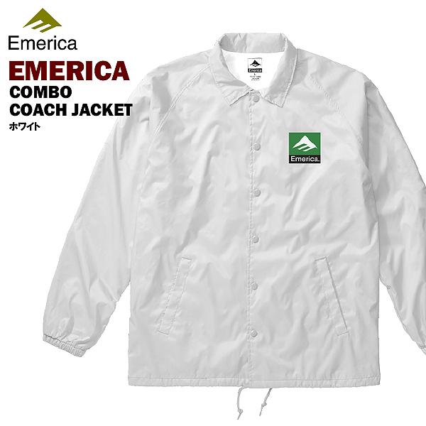 エメリカ クラシック コンボ コーチジャケット ホワイト スケート スケーターウエアー (Emerica CLASSIC COMBO COACHES JACKET)