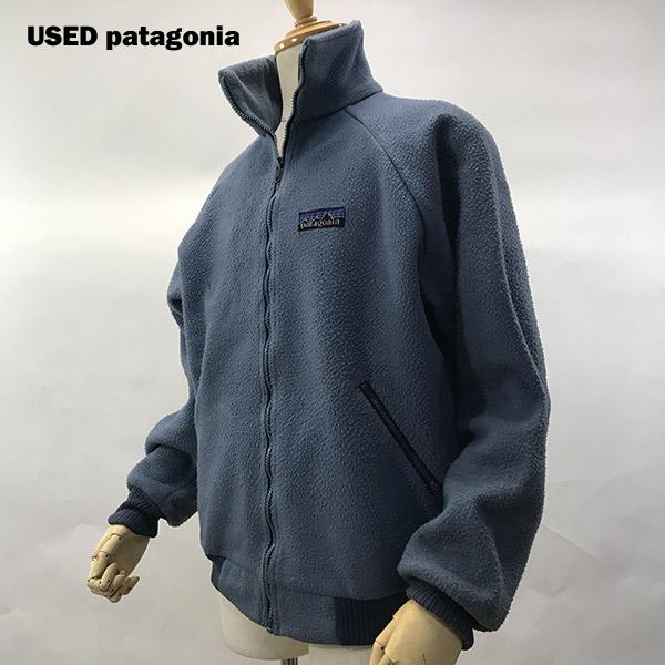 USED PATAGONIA (パタゴニア) フルジップ フリース デカタグsize XL スカイブルー 【あす楽対応】【あす楽_土曜営業】【海外直輸入USED品】