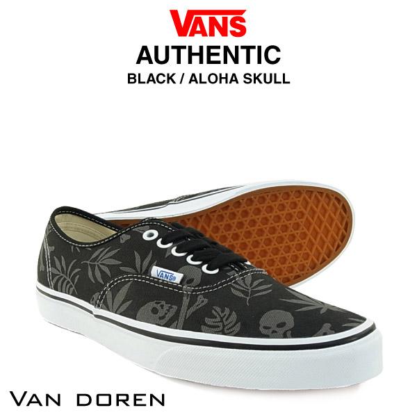 6b2bf25e6f amb  Vans authentic Van-Doren black   Aloha scale (VAN DOREN of VANS ...