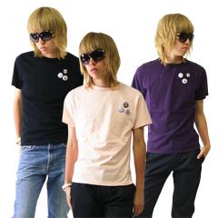 在庫処分 レイモンドバスキア クルーネック S 缶バッチつき 本日限定 RAYMOND 登場大人気アイテム BASQUIAT Tシャツ