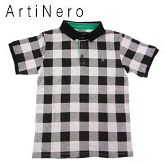 アルティネロ 数量限定 チェックポロシャツ 定価 グレー ArtiNero