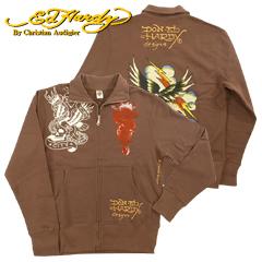 エド ハーディー メンズ トラックジャケット 77 イーグル ブラウン (Men's Track Jacket 77 EAGLE ED HARDY EDHARDY エドハーディー) 【あす楽対応_東北】【あす楽対応_関東】【あす楽対応_近畿】
