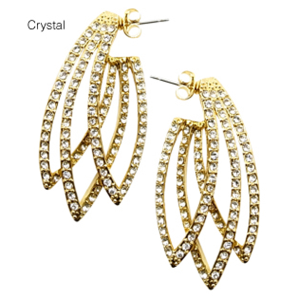 House Of Harlow 1960 Feather Earring Gold Earrings Nicole Richie Design Produce