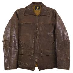 VINTAGE '60S Golden Bear-ゴールデンベアー TALONジッパー レザージャケット ブラウン size -(L) 【あす楽対応】【あす楽_土曜営業】【古着】【海外直輸入USED品】