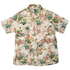 VINTAGE PENNEY'S (60's・三角タグ) ビンテージアロハシャツ フラワー柄 Hawaiian Shirt size M 【あす楽対応】【あす楽_土曜営業】【古着】【海外直輸入USED品】