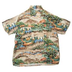 VINTAGE PENNEY'S (60's・三角タグ) ビンテージアロハシャツ フラワー柄 size M 【あす楽対応】【あす楽_土曜営業】【古着】【海外直輸入USED品】