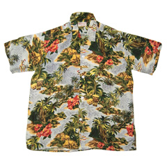 VINTAGE KUONAKAKAI (60's) ビンテージアロハシャツ ハワイアン柄 size L 【あす楽対応】【あす楽_土曜営業】【古着】【海外直輸入USED品】