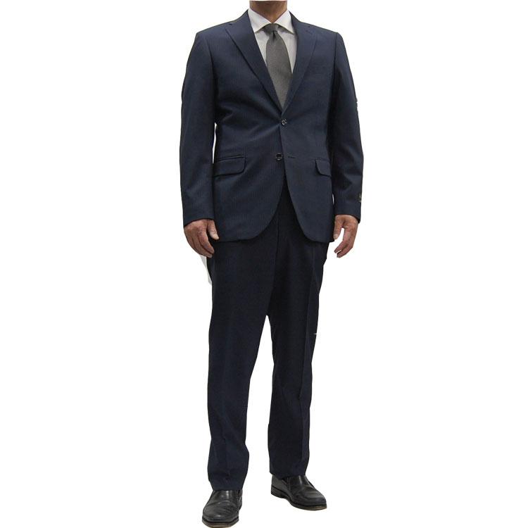 【送料無料】春夏シングルツーパンツ 洗えるスラックス スペアパンツ付きシングルスーツ 2B 2パンツ 10238121 ビジネススーツツーパンツスーツ紺ストライプA5・A6・AB4・AB5・AB6