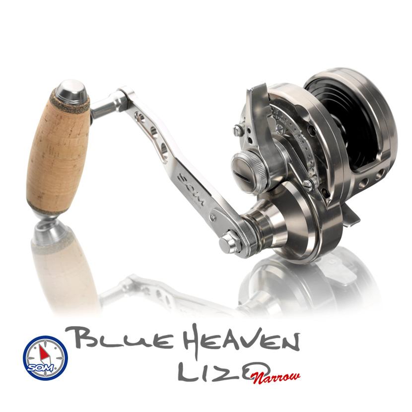 スタジオオーシャンマーク ブルーヘブンL120ナロー ハイギア 数量限定生産モデル STUDIO Ocean Mark Blue Heaven L120N Hi123mmアーム ディープスプール 100mmコルクノブ 日本製 MADE IN JAPAN ジギング リール