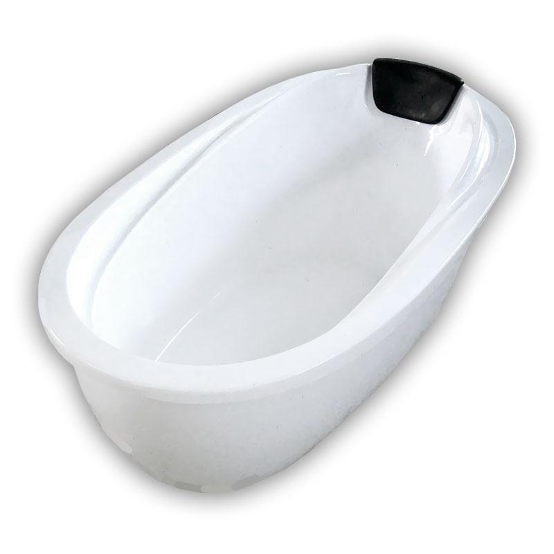 150アポロ人造大理石ダブルアクリル置き型浴槽風呂バスタブ湯船 Ambest BA1103 排水込む/排水パイプ/簡単取付/据置タイプ/エプロンなし/洋式/アンティーク風/お湯保温/入浴/和洋折衷